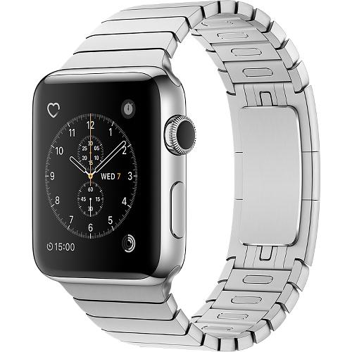 Часы Apple Watch Series 2 42 мм, нержавеющая сталь, блочный браслетУмные часы<br>Часы Apple Watch Series 2 42 мм, нержавеющая сталь, блочный браслет<br><br>Цвет товара: Серебристый<br>Материал: Нержавеющая сталь 316L<br>Модификация: 42 мм