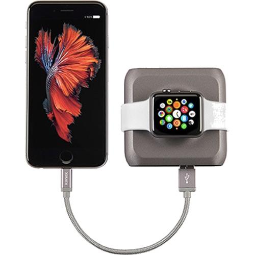 Портативный аккумулятор Kanex GoPower Watch для Apple Watch и iPhone сераяДокстанции Apple Watch<br>Ваши роскошные и ультрасовременные часы Apple Watch заслуживают самых передовых и стильных аксессуаров! И одним из таких девайсов можно по прав...<br><br>Цвет товара: Серый<br>Материал: Пластик