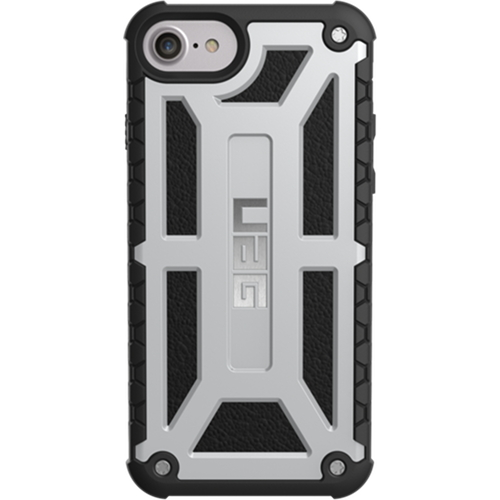 Чехол UAG Monarch Series Case для iPhone 6/6s/7/8 серебристыйЧехлы для iPhone 6/6s<br>Ударопрочный чехол UAG Monarch — надёжная защита для вашего гаджета!<br><br>Цвет: Серебристый<br>Материал: Поликарбонат, полиуретан
