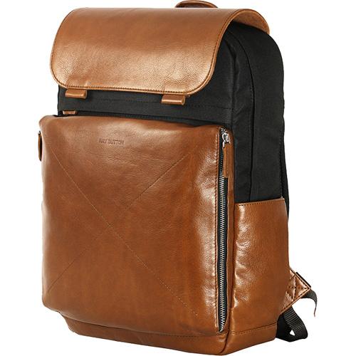 Рюкзак Ray Button Amsterdam (504C15) чёрный/коричневыйРюкзаки<br>Рюкзак Ray Button серии «Амстердам» выполнен из натуральной кожи и прочной водоотталкивающей ткани.<br><br>Цвет товара: Коричневый<br>Материал: Натуральная кожа, текстиль, металл