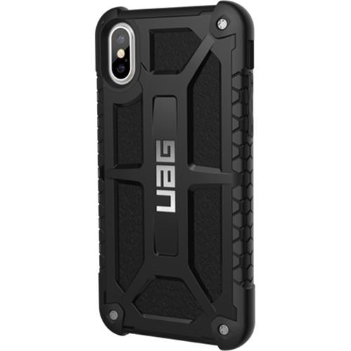 Чехол UAG Monarch Series Case для iPhone X чёрныйЧехлы для iPhone X<br>UAG Monarch Series Case — это целых 5 слоёв защиты и особые технологии, позволяющие уберечь ваш iPhone X от самых различных повреждений.<br><br>Цвет товара: Чёрный<br>Материал: Термопластичный полиуретан, поликарбонат, натуральная кожа, металл