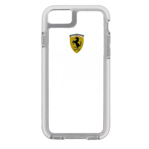 Чехол Ferrari Shockproof Hard PC для iPhone 7 (Айфон 7) прозрачныйЧехлы для iPhone 7<br>Чехол Ferrari для iPhone 7 Shockproof Hard PC Transperent<br><br>Цвет товара: Прозрачный<br>Материал: Полкикарбонат, резина