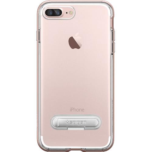 Чехол Spigen Crystal Hybrid для iPhone 7 и 8 Plus (Айфон 7 Плюс) розовое золото (SGP-043CS20510)Чехлы для iPhone 7 Plus<br>Spigen Crystal Hybrid — идеальный чехол для минималистов, которые ценят максимальную функциональность!<br><br>Цвет товара: Розовое золото<br>Материал: Поликарбонат, термопластичный полиуретан (ТПУ)