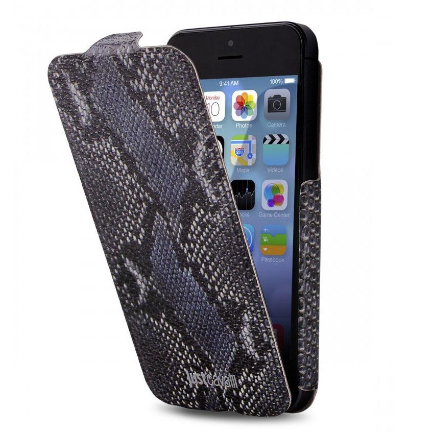 Чехол Puro Just Cavalli Python Flip для iPhone SE/5/5S синийЧехлы для iPhone 5s/SE<br>Puro Just Cavalli Python отлично выполняет свои функции по защите смартфона от внешних воздействий.<br><br>Цвет товара: Синий<br>Материал: Эко-кожа, пластик