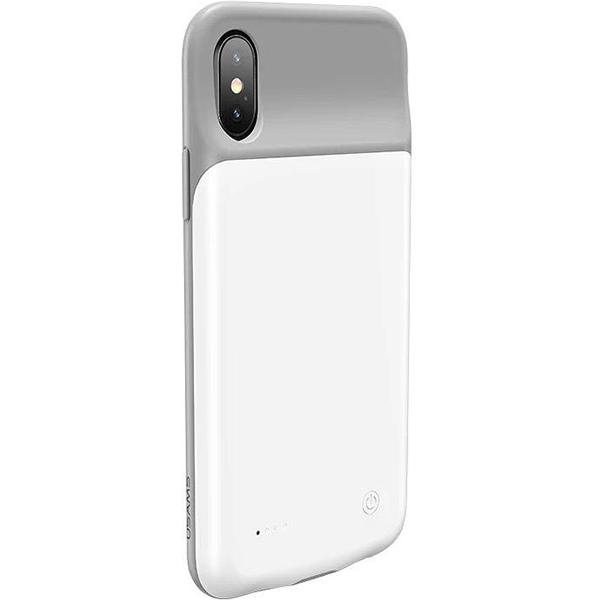 Чехол-аккумулятор USAMS US-CD43 Battery Case 3400 мАч для iPhone X белыйЧехлы для iPhone X<br>USAMS US-CD43 — это непревзойдённая защита и максимум энергии!<br><br>Цвет: Белый<br>Материал: Поликарбонат