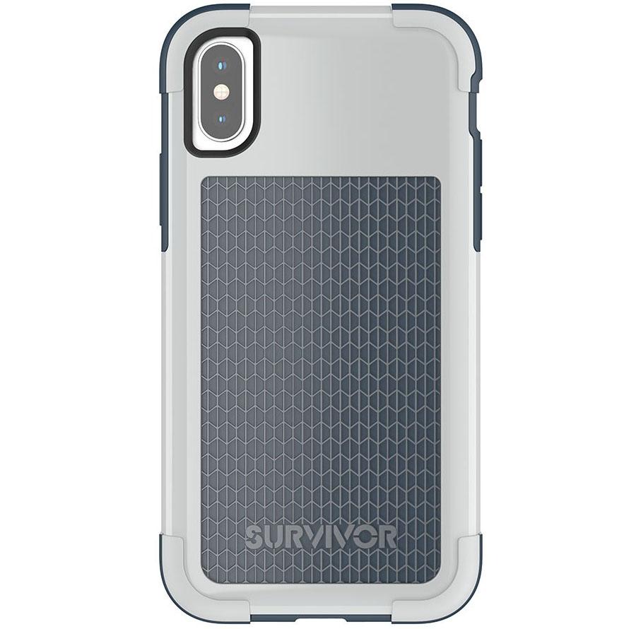 Чехол Griffin Survivor Fit для iPhone X синий/серыйЧехлы для iPhone X<br>Survivor Fit — это многослойный чехол нового поколения!<br><br>Цвет товара: Синий<br>Материал: Поликарбонат, полиуретан<br>Модификация: iPhone 5.8