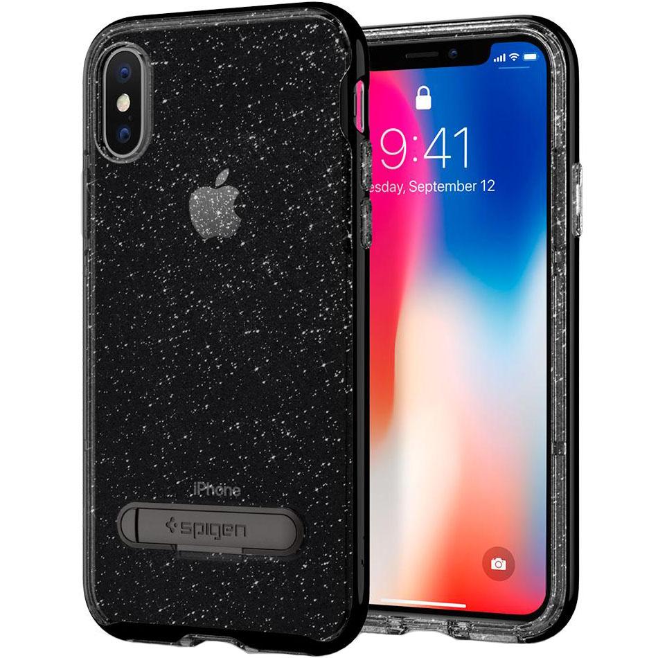 Чехол Spigen Crystal Hybrid Glitter для iPhone X серый кварц (057CS22148)Чехлы для iPhone X<br>Crystal Hybrid Glitter обеспечит iPhone X защитой и блеском, которых он заслуживает!<br><br>Цвет: Серый<br>Материал: Термопластичный полиуретан, поликарбонат