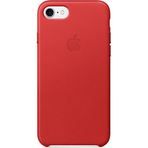 Кожаный чехол Apple Case для iPhone 7 (Айфон 7) красный (PRODUCT RED)