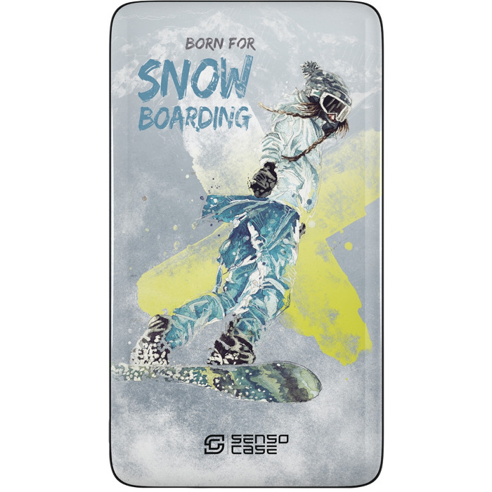 Внешний аккумулятор Sensocase Share Your Passion (10000 мАч) Сноубординг-1Внешние аккумуляторы<br>Расскажите о своем увлечении всему миру!<br><br>Цвет товара: Разноцветный<br>Материал: Пластик, силикон