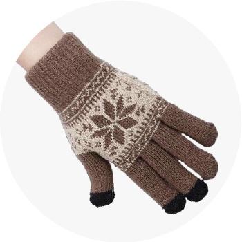 Перчатки шерстяные Beewin Smart Gloves для iPhone/iPod/iPad/etc коричневые (размер L) от iCases