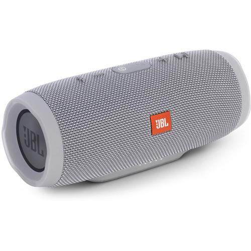 Акустическая система JBL Charge 3 сераяКолонки и акустика<br>Фирменный звук JBL способен наполнить любимой музыкой не только ваш дом, но и создать драйв на вечеринке у бассейна.<br><br>Цвет товара: Серый<br>Материал: Пластик, текстиль
