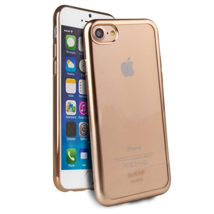 Чехол Uniq Glacier Frost для iPhone 7/ iPhone 8 золотистыйЧехлы для iPhone 7<br>Чехол Uniq Glacier Frost для iPhone 7 (Айфон 7) золотистый<br><br>Цвет: Золотой<br>Материал: Поликарбонат, полиуретан