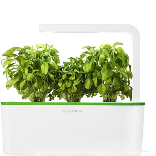 Умный сад Click and Grow Базилик (зелёная крышка)Умные сады и фермы<br>Умный сад от Click and Grow — это смарт-девайс, впитавший в себя новейшие разработки в сфере выращивания растений.<br><br>Цвет товара: Зелёный<br>Материал: Пластик