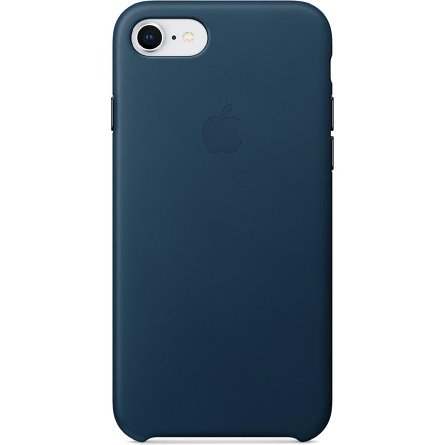 Кожаный чехол Apple Leather Case для iPhone 7/8 «космический синий» (Cosmos Blue)Чехлы для iPhone 7<br>Ни один чехол в мире не сочетается с мощным Айфон лучше, чем оригинальный Apple Case.<br><br>Цвет товара: Синий<br>Материал: Натуральная кожа