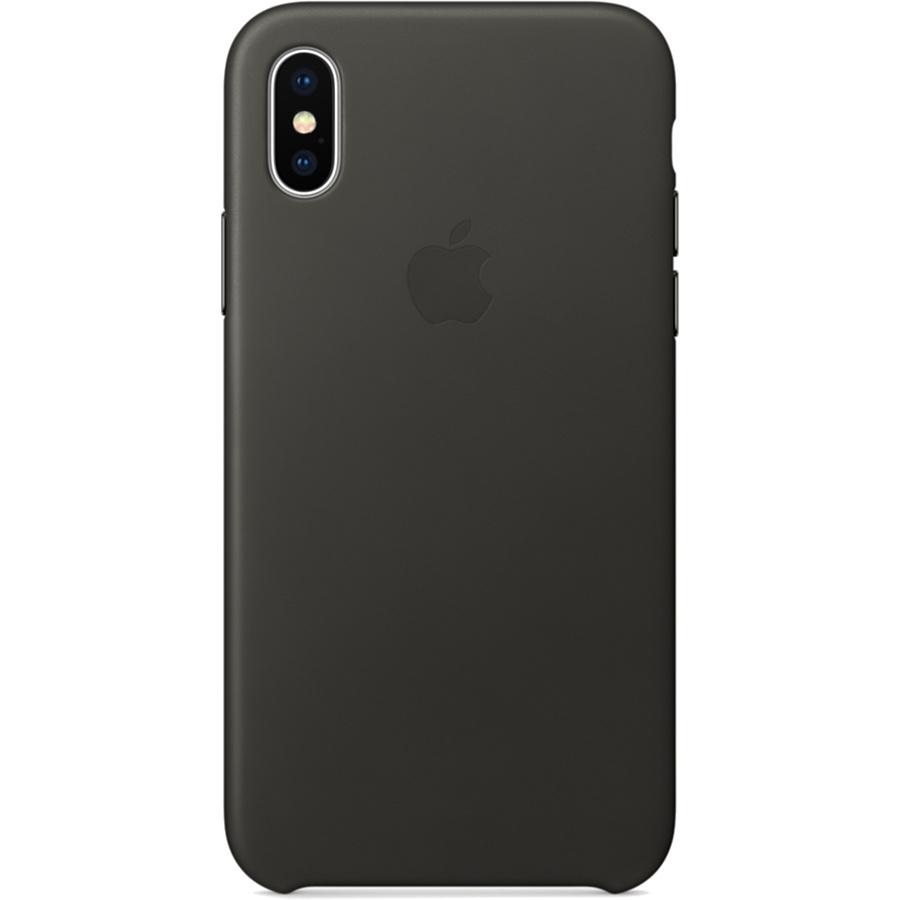 Кожаный чехол Apple Leather Case для iPhone X угольно-серый (Charcoal Gray)Чехлы для iPhone X<br>Кожаный чехол от Apple — отличное дополнение к вашему iPhone X.<br><br>Цвет товара: Серый<br>Материал: Натуральная кожа