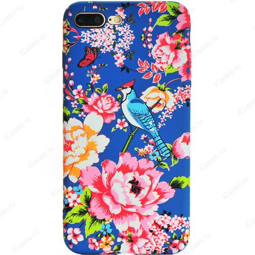 Силиконовый чехол Luxo для iPhone 7 Plus Цветы (стиль 2)