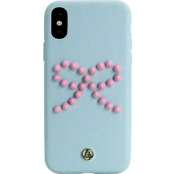 Чехол Luna Aristo Prima Donna для iPhone X голубой (Blush)Чехлы для iPhone X<br>Оригинальный дизайн и надёжная защита!<br><br>Цвет: Голубой<br>Материал: Пластик, поликарбонат, эко-кожа