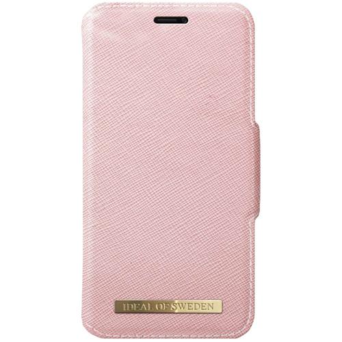Чехол iDeal of Sweden Fashion Wallet для iPhone X розовыйЧехлы для iPhone X<br><br><br>Цвет товара: Розовый<br>Материал: Сафьяновая кожа, пластик, текстиль