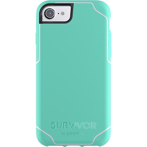 Чехол Griffin Survivor Journey для iPhone 7 (Айфон 7) ментоловый/белыйЧехлы для iPhone 7/7 Plus<br>Чехол Griffin Survivor Journey для iPhone 7/6/6s - салатовый/белый<br><br>Цвет товара: Зелёный<br>Материал: Пластик