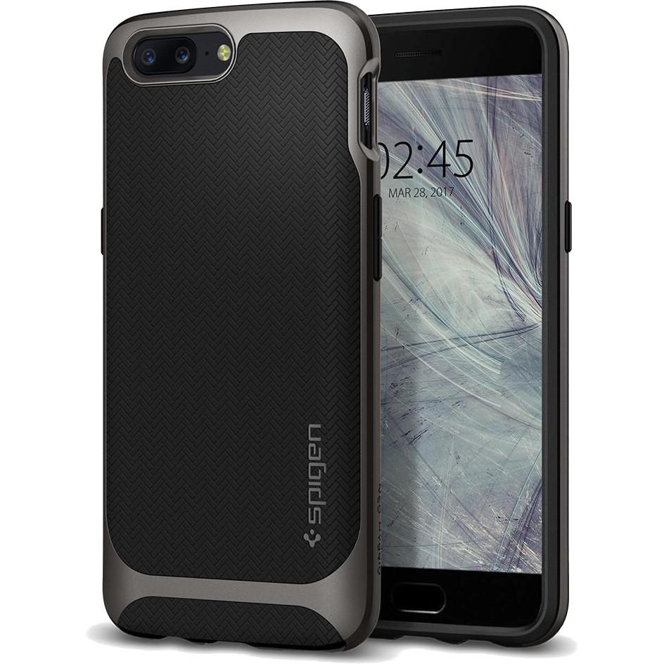 Чехол Spigen Neo Hybrid для OnePlus 5 серый Gunmetal (K04CS21515)Чехлы для OnePlus<br>Spigen Neo Hybrid — стильный и прочный чехол для мощного смартфона OnePlus 5 с красивой текстурой.<br><br>Цвет товара: Серый<br>Материал: Поликарбонат, термопластичный полиуретан
