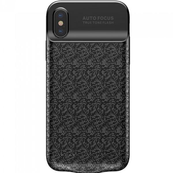 Чехол-аккумулятор Baseus Plaid Backpack Power Bank 3500 mAh для iPhone X чёрныйЧехлы для iPhone X<br>Стильный и надежный чехол от Baseus обеспечит ваш iPhone 100% защитой и энергией!<br><br>Цвет: Чёрный<br>Материал: Полиуретан, поликарбонат