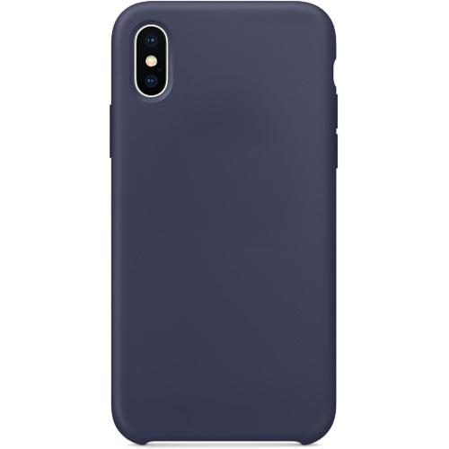 Силиконовый чехол YablukCase для iPhone X тёмно-синийЧехлы для iPhone X<br>Лёгкий и практичный YablukCase — идеальная пара для вашего iPhone X!<br><br>Цвет товара: Синий<br>Материал: Силикон