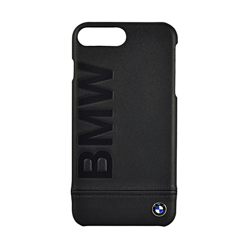 Чехол BMW Signature Logo Imprint Hard Leather для iPhone 7 Plus (Айфон 7 Плюс) чёрный
