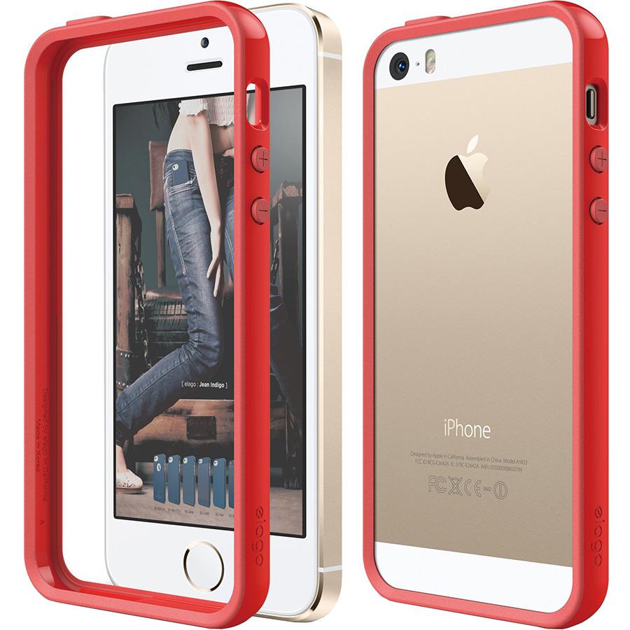 Чехол Elago Edge Bumper TPU/PC для iPhone 5S / SE красныйЧехлы для iPhone 5/5S/SE<br>Elago Edge Bumper TPU/PC — яркий, прочный и почти незаметный защитник для вашего iPhone!<br><br>Цвет: Красный<br>Материал: Поликарбонат, полиуретан