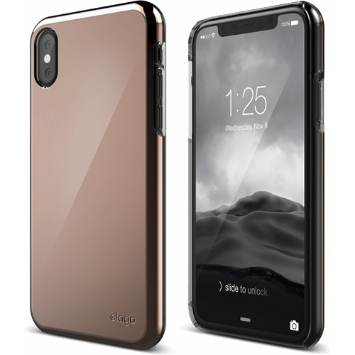 Чехол Elago Slim Fit 2 для iPhone X розовое золотоЧехлы для iPhone X<br>Ультратонкий и в то же время невероятно прочный Elago Slim Fit 2 — это абсолютная защита для вашего iPhone X!<br><br>Цвет: Розовое золото<br>Материал: Поликарбонат