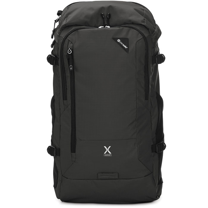 Рюкзак PacSafe Venturesafe X30 чёрныйРюкзаки<br>Ventursafe X30 — это комфорт, невероятно долгий срок службы и классный дизайн!<br><br>Цвет товара: Чёрный<br>Материал: Текстиль, нержавеющая сталь, пластик