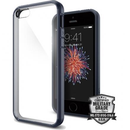 Чехол Spigen Ultra Hybrid для iPhone SE (SGP-041CS20248)Чехлы для iPhone 5s/SE<br>Чехол Spigen Ultra Hybrid для iPhone SE синий металлик (SGP-041CS20248)<br><br>Цвет товара: Чёрный<br>Материал: Пластик, резина