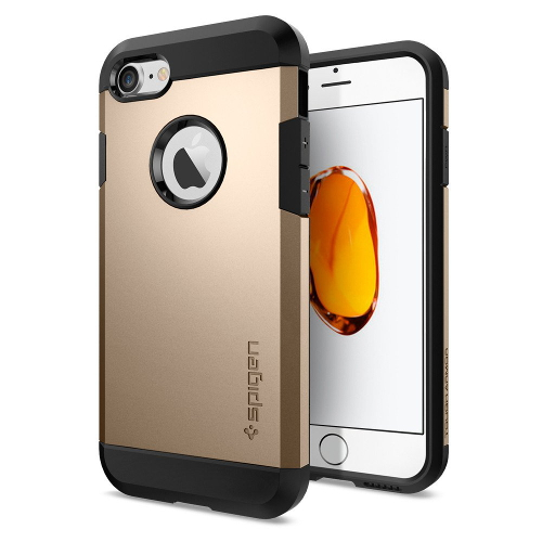 Чехол Spigen Tough Armor для iPhone 7, iPhone 8 золотой (SGP-042CS20490)Чехлы для iPhone 7<br>Обеспокоены безопасностью вашего iPhone 7? С бестселлером от Spigen — чехлом Tough Armor — вам больше никогда не придётся об этом волноваться!<br><br>Цвет товара: Золотой<br>Материал: Поликарбонат, полиуретан