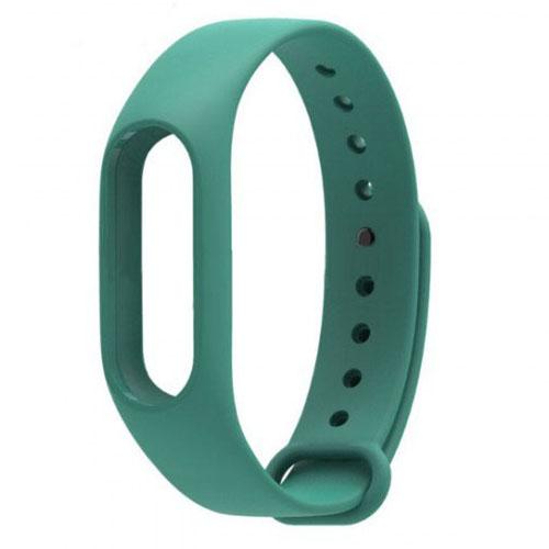 Ремешок для браслета Xiaomi Mi Band 2 зелёныйРемешки для браслетов<br>Радужные ремешки позволят подобрать цвет браслета под настроение!<br><br>Цвет товара: Зелёный<br>Материал: Силикон