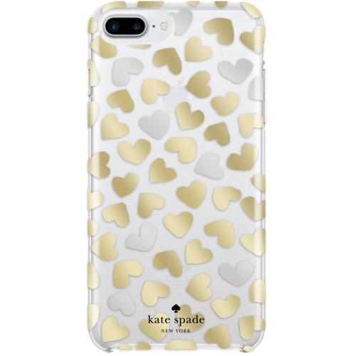 Чехол Kate Spade New York Protective Hardshell Case для iPhone 8 Plus / 7 Plus (Dancing Hearts)Чехлы для iPhone 6/6s Plus<br><br><br>Цвет товара: Прозрачный<br>Материал: Пластик, силикон