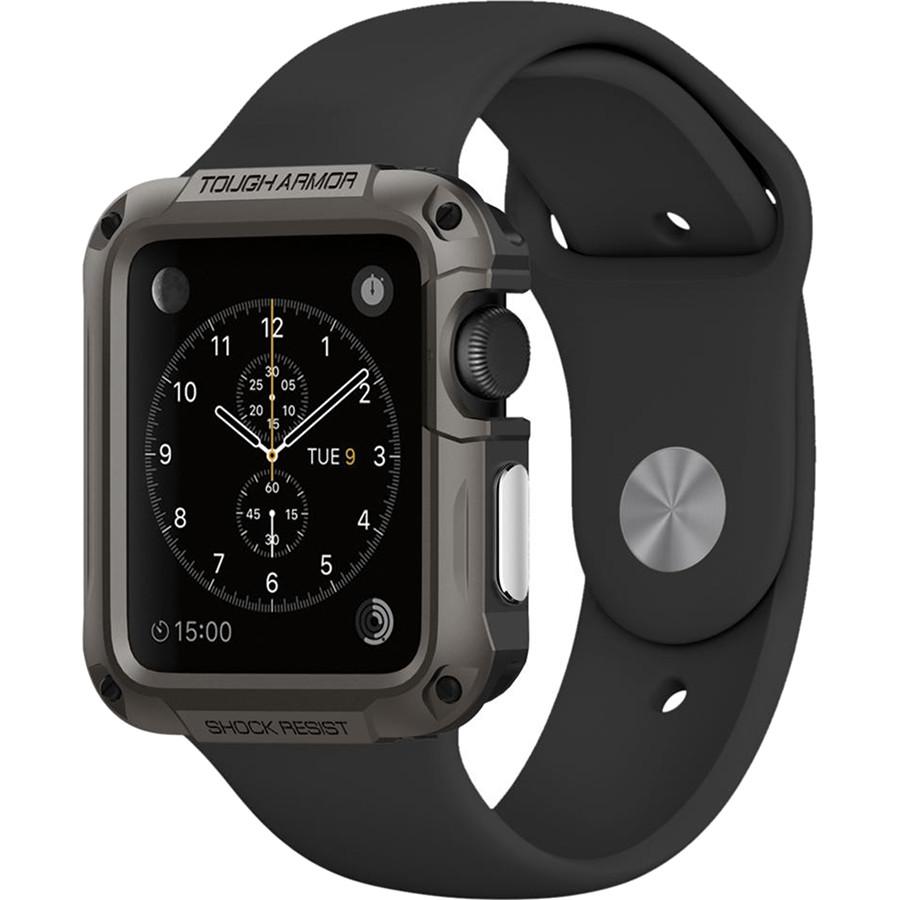 Чехол Spigen Tough Armor для Apple Watch Series 1/2/3 42 мм тёмно-серый Gunmetal (048CS21060)Чехлы Apple Watch<br>Spigen Tough Armor создан для самой полной и безупречной защиты ваших часов при ежедневном их использовании.<br><br>Цвет товара: Серый<br>Материал: Поликарбонат, термопластичный полиуретан