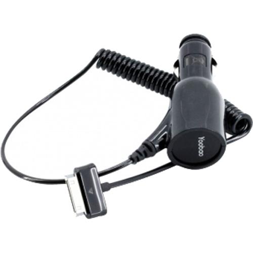 Автозарядка Yoobao для Galaxy TabАвтозарядки<br>Автозарядка для Samsun GT<br><br>Цвет товара: Чёрный<br>Материал: Пластик, силикон