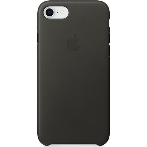 Кожаный чехол Apple Leather Case для iPhone 7/8 угольно-серый (Charcoal Gray)Чехлы для iPhone 7<br>Ни один чехол в мире не сочетается с мощным iPhone лучше, чем оригинальный Apple Case.<br><br>Цвет товара: Серый<br>Материал: Натуральная кожа