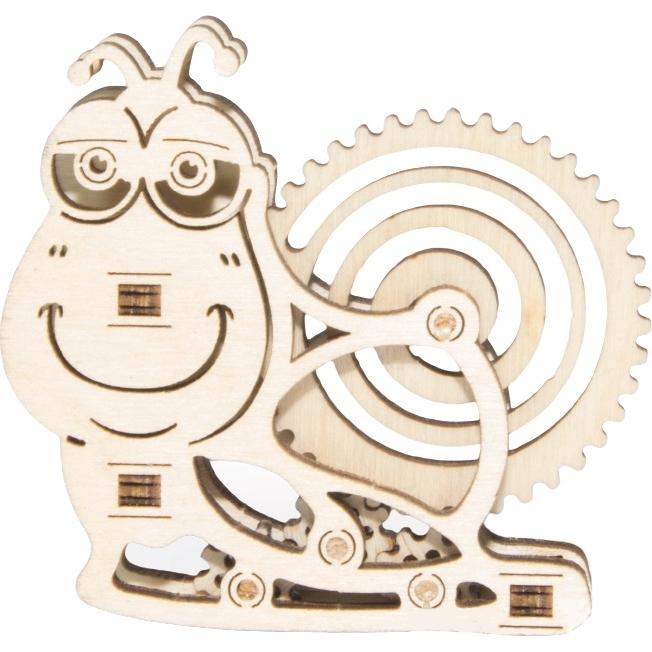 3D-конструктор из дерева Wood Trick Вудик Улитка3D пазлы и конструкторы<br>Сувениры Wood Trick — это механические 3D-модели, которые собираются без клея и понятны даже ребенку.<br><br>Цвет: Бежевый<br>Материал: Натуральное дерево (фанера)