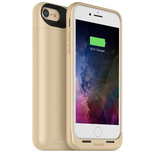 Чехол-аккумулятор Mophie Juice Pack Air на 2525 мАч для iPhone 7 золотойЧехлы для iPhone 7<br>Mophie Juice Pack Air — это идеальный чехол - тонкий и легкий, он обеспечит ваш новенький iPhone 7 100% защитой и энергией.<br><br>Цвет товара: Золотой<br>Материал: Поликарбонат, резина