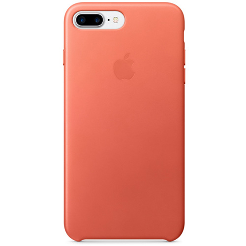 Кожаный чехол Apple Leather Case для iPhone 7 Plus (Geranium) розовая герань