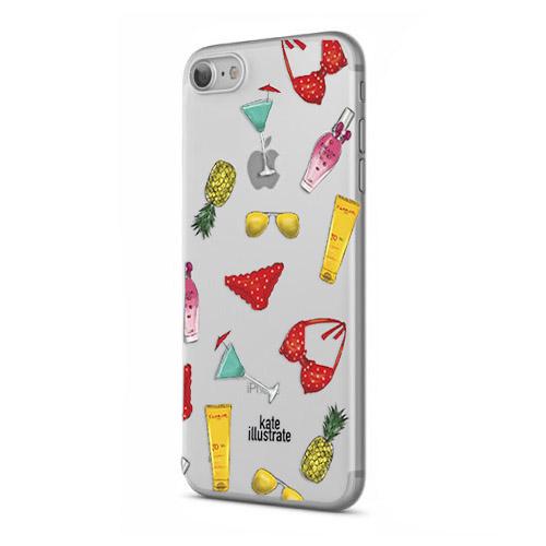 Чехол iPapai для iPhone 7 Kateillustrate (Summer Essentials)Чехлы для iPhone 7/7 Plus<br>Чехол iPapai Kateillustrate (Summer pattern) для iPhone 7<br><br>Цвет товара: Разноцветный