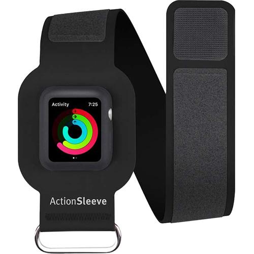 Спортивный чехол на руку Twelve South Action Sleeve Armband для Apple Watch 42mm (Slim) чёрныйЧехлы Apple Watch<br>Action Sleeve Armband — аксессуар, специально предназначенный для ношения Apple Watch на предплечье в районе бицепса.<br><br>Цвет товара: Чёрный<br>Материал: Нейлон, пластик, металл