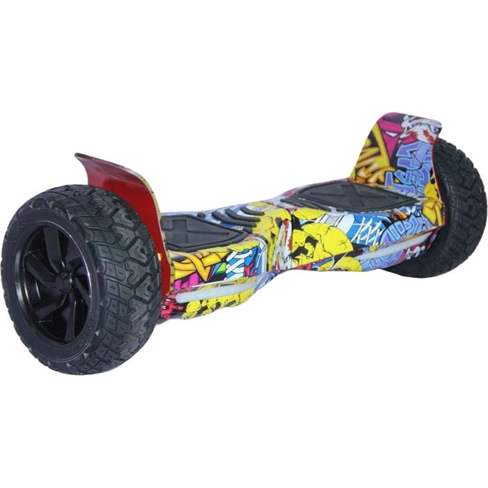 Гироскутер Asixbot Off-Road 9 граффити жёлтыйГироскутеры<br>У гироскутера Asixbot Off-Road широкие мощные 9 дюймовые колёса, способные передвигаться не только по асфальту, но и по траве, песку или камушкам.<br><br>Цвет товара: Жёлтый<br>Материал: Износостойкий полимер, металл