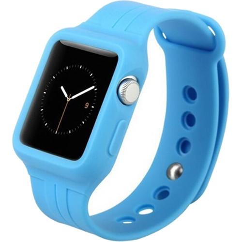 Спортивный ремешок Baseus Fresh Color Plus для Apple Watch 38 мм синийРемешки для Apple Watch<br>Для хорошего настроения и превосходных результатов!<br><br>Цвет: Синий<br>Материал: Силикон