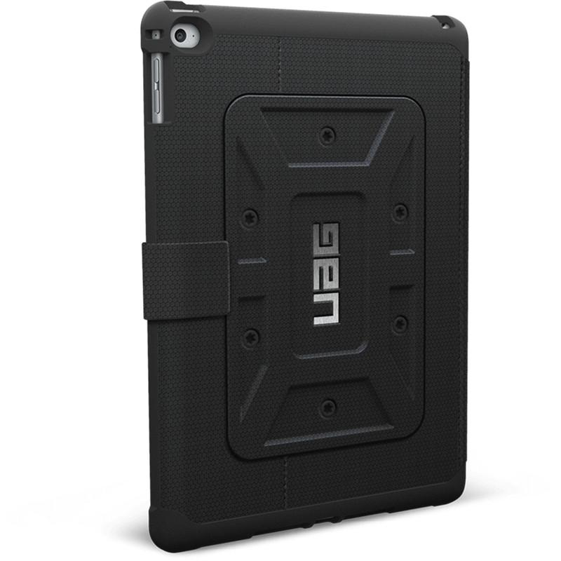 Чехол UAG Folio Case для iPad Air 2 чёрныйЧехлы для iPad Air<br>Чехлы от UAG спроектированы специально для безупречной защиты портативных гаджетов.<br><br>Цвет товара: Чёрный<br>Материал: Композитный пластик, силикон