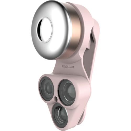 Набор линз ShiftCam RevolCam (wide + macro lens + fisheye) розовое золотоОбъективы<br>Благодаря ShiftCam RevolCam возможности фотосъёмки на вашем смартфоне станут практически безграничны!<br><br>Цвет: Розовое золото<br>Материал: Пластик