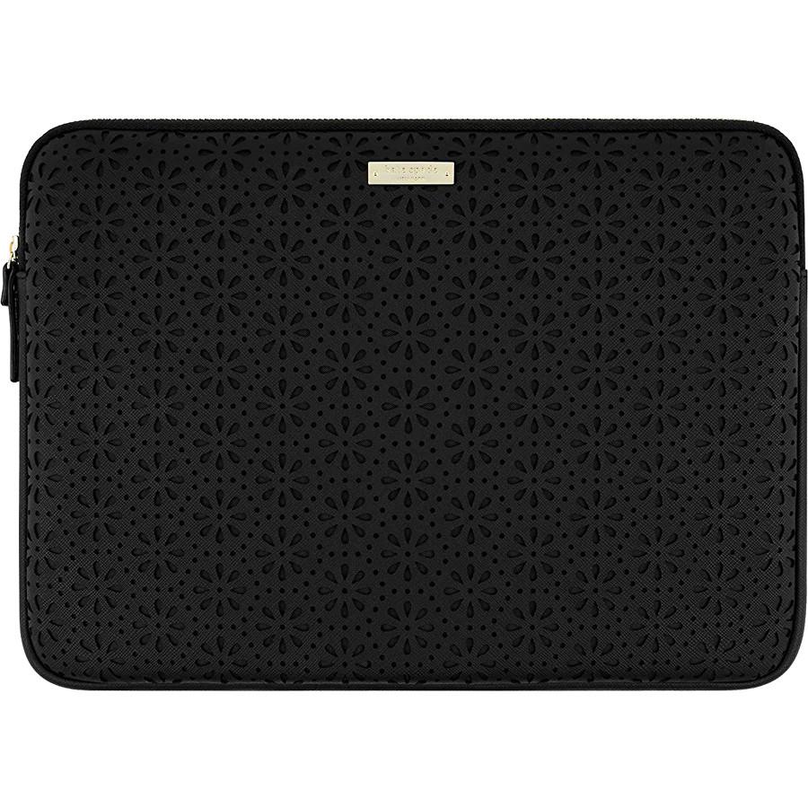 Чехол Kate Spade New York Perforated Sleeve для MacBook 13 чёрныйЧехлы для MacBook Air 13<br>Kate Spade New York Perforated с цветочной перфорацией — самый элегантный чехол для вашего любимого лэптопа!<br><br>Цвет товара: Чёрный<br>Материал: Эко-кожа, текстиль