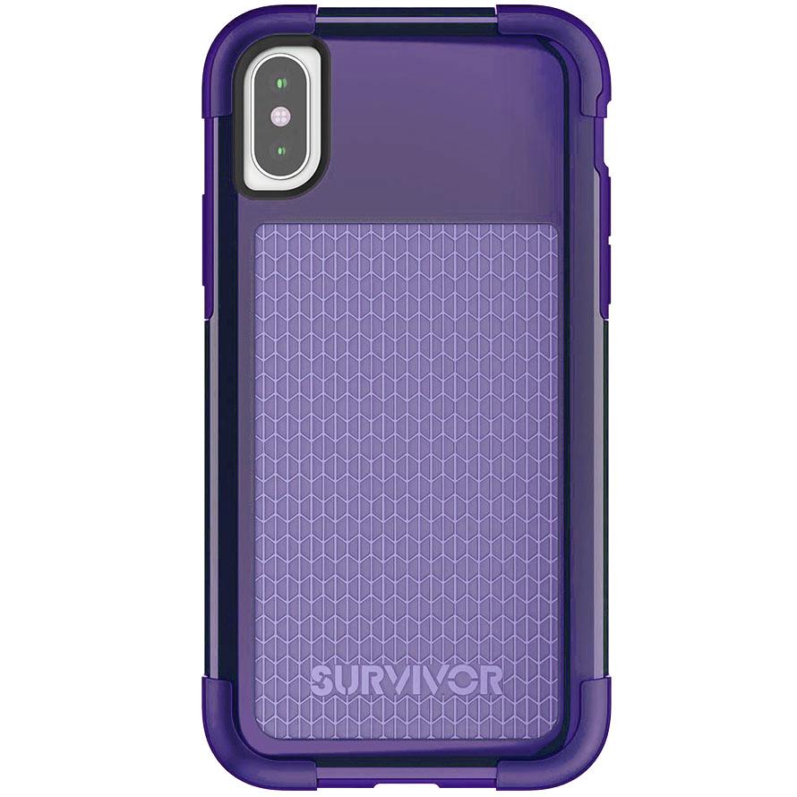 Чехол Griffin Survivor Fit для iPhone X фиолетовыйЧехлы для iPhone X<br>Survivor Fit — это многослойный чехол нового поколения!<br><br>Цвет товара: Фиолетовый<br>Материал: Поликарбонат, полиуретан<br>Модификация: iPhone 5.8