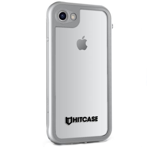 Чехол Hitcase Shield для iPhone 7 серебристыйЧехлы для iPhone 7/7 Plus<br>Hitcase Shield - самый тонкий водонепроницаемый чехол для iPhone 7.<br><br>Цвет товара: Серебристый<br>Материал: Алюминий, поликарбонат, силикон