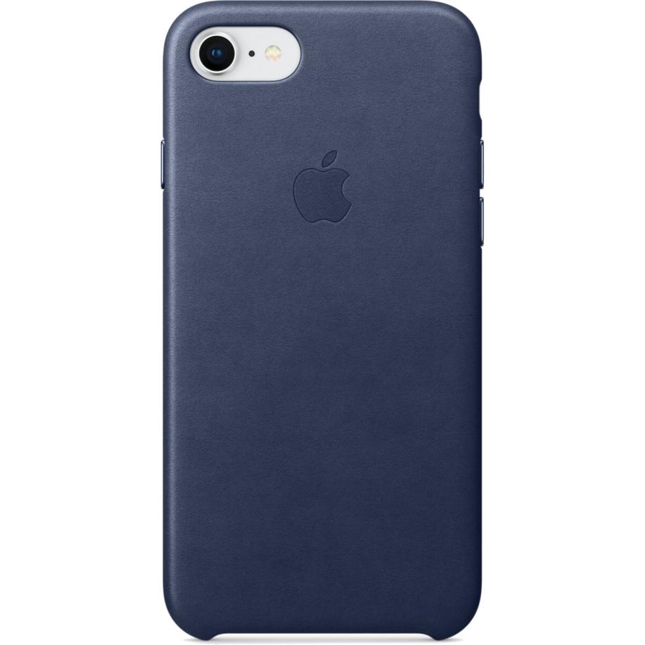 Кожаный чехол Apple Leather Case для iPhone 7/8 тёмно-синий (Midnight Blue)Чехлы для iPhone 7<br>Ни один чехол в мире не сочетается с мощным Айфон лучше, чем оригинальный Apple Case.<br><br>Цвет товара: Синий<br>Материал: Натуральная кожа